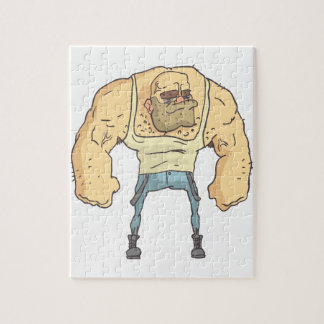Bully Dangerous Criminal Outlined Comics Style Jigsaw Puzzle