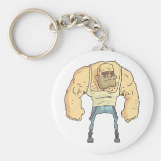 Bully Dangerous Criminal Outlined Comics Style Keychain