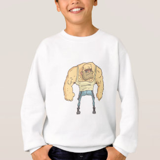 Bully Dangerous Criminal Outlined Comics Style Sweatshirt