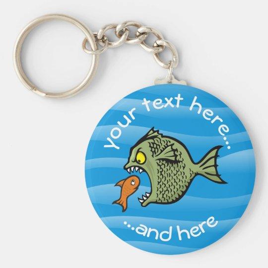 Bully Fish Basic Round Button Keychain