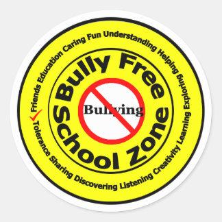 Bully Free School Zone Classic Round Sticker
