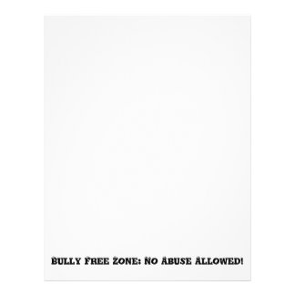 Bully Free Zone: No Abuse Allowed - Anti Bully Flyer
