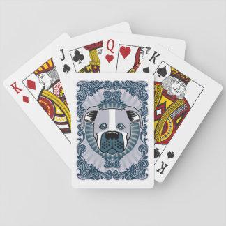 Bully in Blue Poker Deck