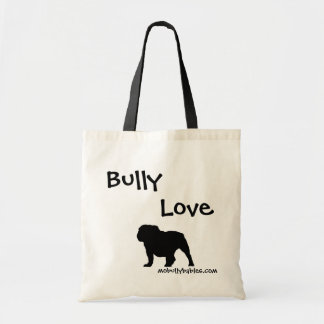Bully Love Bulldog tote bag