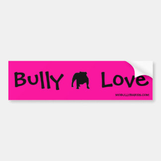 Bully Love English Bulldog Bumper Sticker