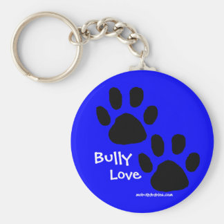 Bully Love pawprints Keychain