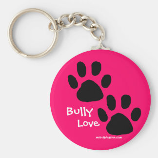 Bully Love pawprints Keychain