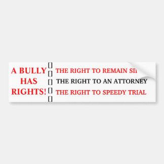 BULLY RIGHTS BUMPER STICKER