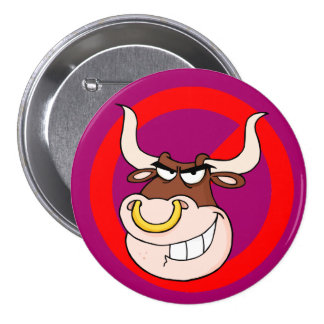 Bullying Awareness: Leave Bullying to the Bulls 3 Inch Round Button