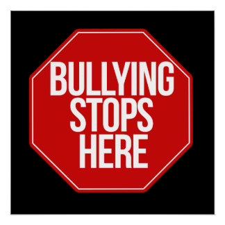 Bullying stops here perfect poster