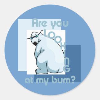 Bum Looker Round Sticker
