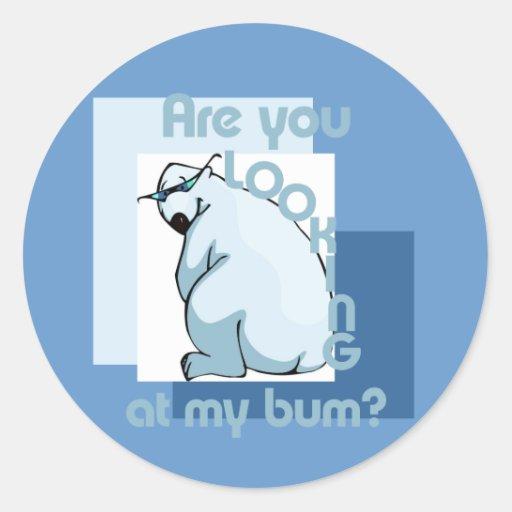 Bum Looker Round Stickers