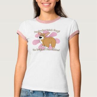 Bum Shaker Corgi Ladies Ringer T-Shirt