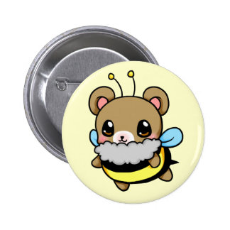 Bumble Bear 2 Inch Round Button