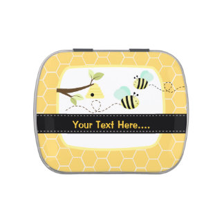 Bumble Bee Add Your Own Text Mint Favor Tin Candy Tin