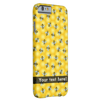 Bumble Bee and Honeycomb Pattern Barely There iPhone 6 Case