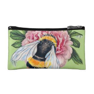 Bumble Bee And Peony Makeup Bag