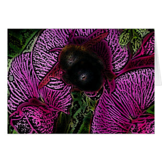 Bumble Bee and Sweet Peas Card