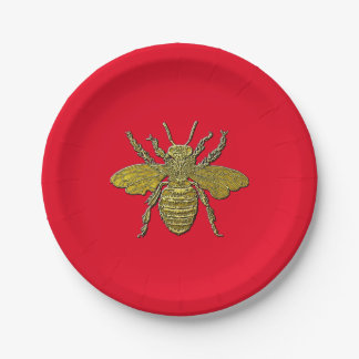 Bumble Bee and Your Color 7 Inch Paper Plate