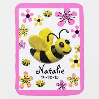 Bumble Bee Baby Girl Shower Swaddle Blanket