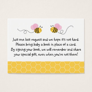 Bumble Bee Baby Shower Book Request Cards