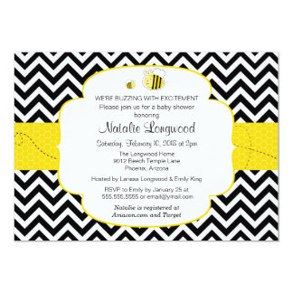 Bumble Bee Baby Shower, Buzzing with Excitement Card