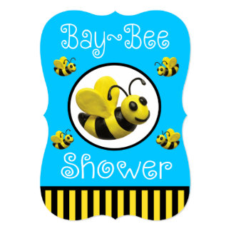 Bumble Bee Baby Shower Card