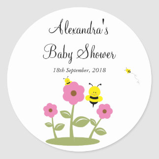 Bumble Bee Baby Shower Favor Stickers