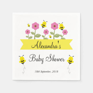 Bumble Bee Baby Shower Napkins Disposable Napkins