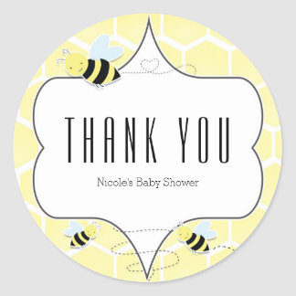 Bumble Bee Baby Shower Party Favor Stickers