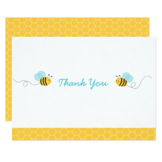Bumble Bee Baby Shower Thank You Card
