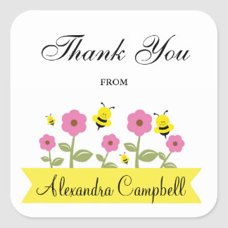 Bumble Bee Baby Shower Thank You Stickers