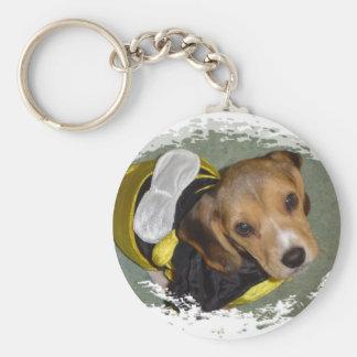 Bumble Bee Beagle Keychain