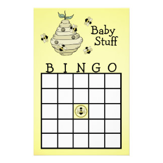 Bumble Bee Bingo party game Personalized Stationery