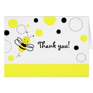 Bumble Bee Birthday Folded  Thank You Note Cards