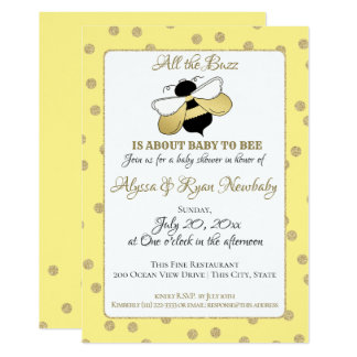 Bumble Bee Buzz Baby Shower Card