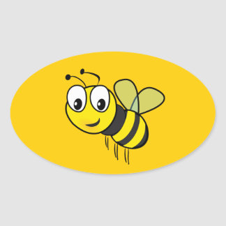 Bumble Bee, Buzz Oval Sticker