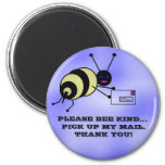 Bumble Bee Carrier 2 Inch Round Magnet