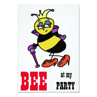 Bumble Bee cartoon party invitations