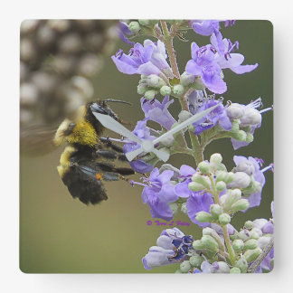 Bumble Bee Chaste Bloom Wall Clock