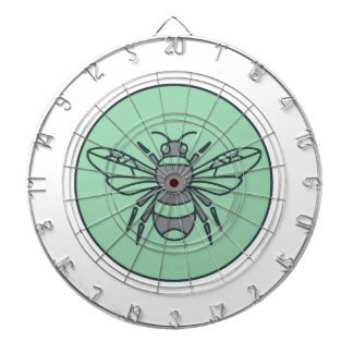 Bumble Bee Circle Mono Line Dartboard