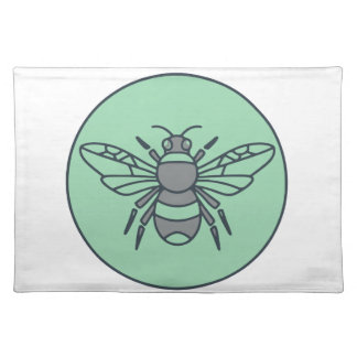 Bumble Bee Circle Mono Line Placemat