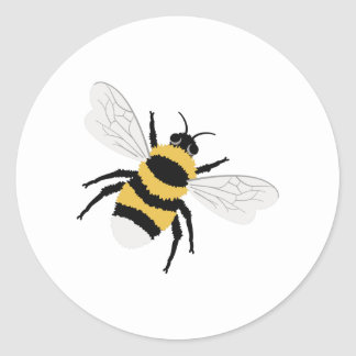 Bumble Bee Classic Round Sticker