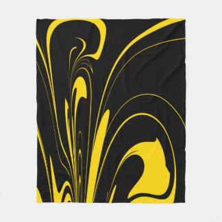 Bumble Bee Colors Fleece Blanket