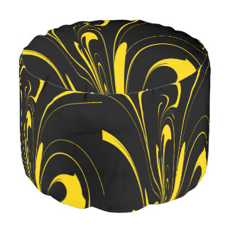 Bumble Bee Colors Pouf