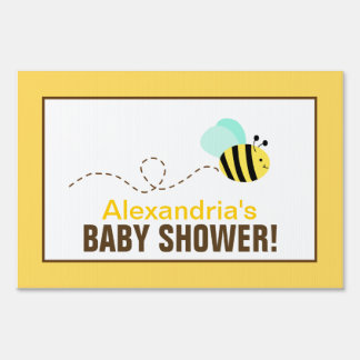 Bumble Bee Custom Baby Shower Yard Sign