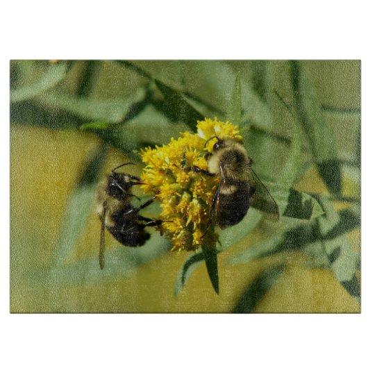 Bumble Bee, Decorative Glass Cutting Board. Cutting Boards