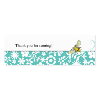 Bumble Bee Favor Tag     Blue Mini Business Card