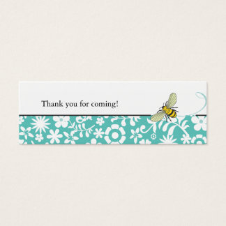 Bumble Bee Favor Tag  |  Blue Mini Business Card