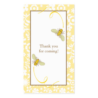 Bumble Bee Favor Tag Business Card Template